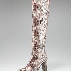 Stuart Weitzman snake boots